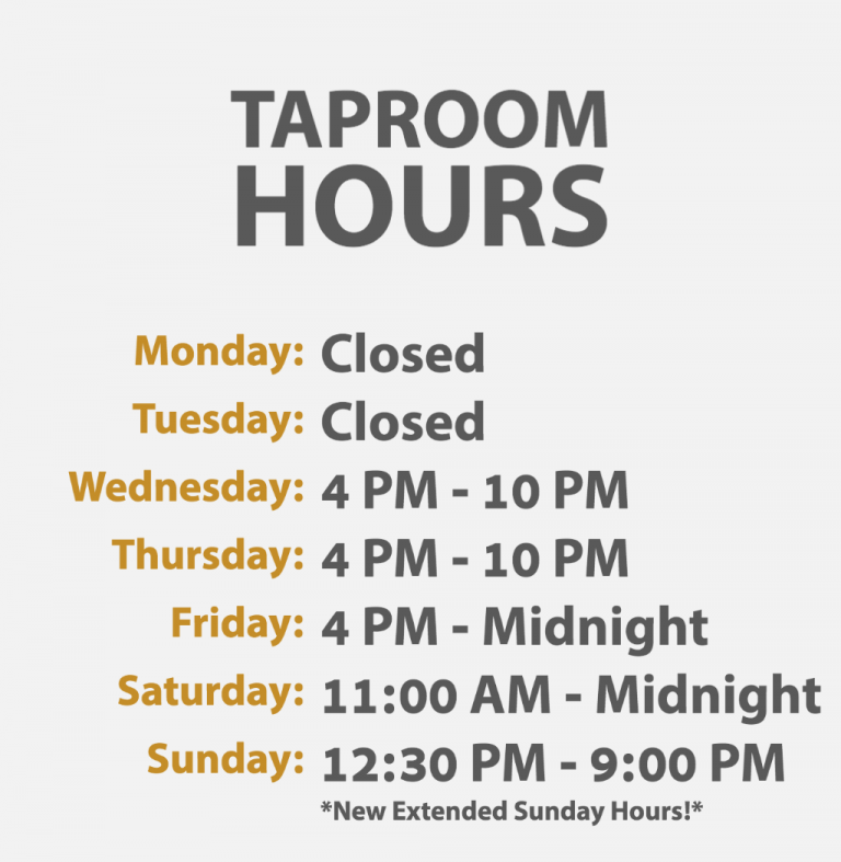 GloverParkBrewery_TaproomHours