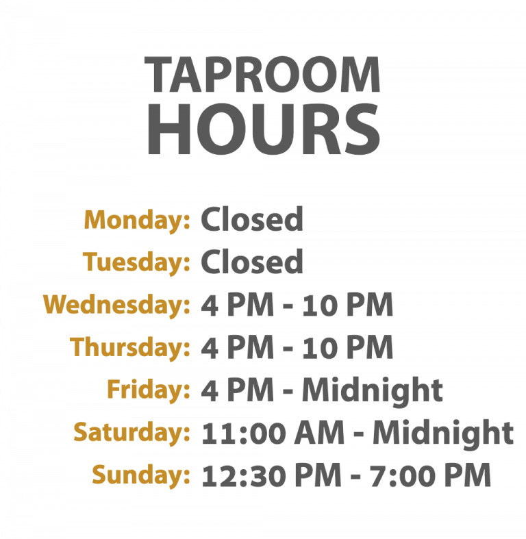 Taproom Hours